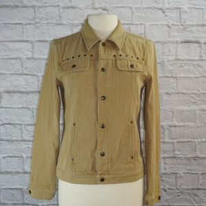 Ralph Lauren Jackets & Coats - Ralph Lauren Tan Grommet Jean Jacket Medium ***